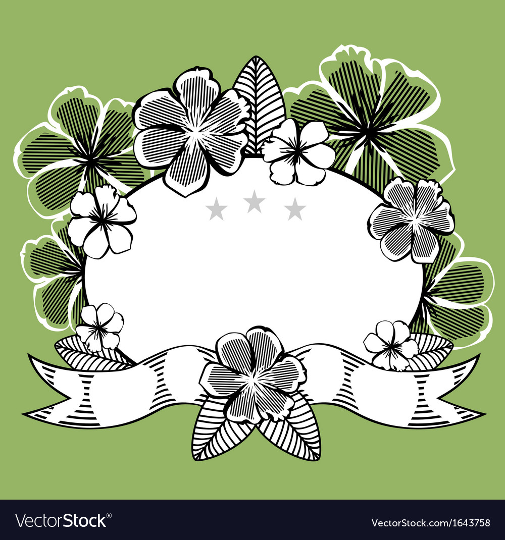 Vintage abstract floral frame vector | Price: 1 Credit (USD $1)