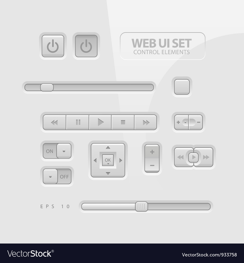 Web ui elements vector | Price: 3 Credit (USD $3)