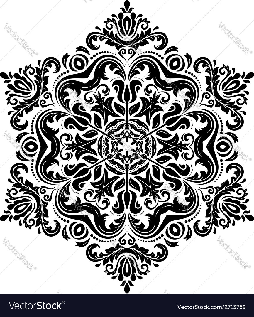 Damask pattern abstract background vector | Price: 1 Credit (USD $1)