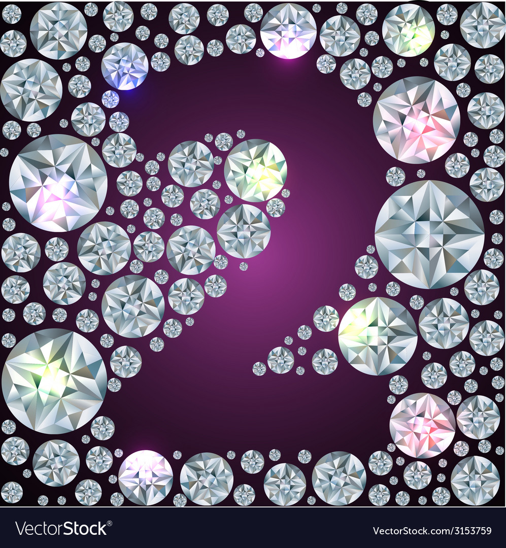 Diamond number two vector | Price: 1 Credit (USD $1)