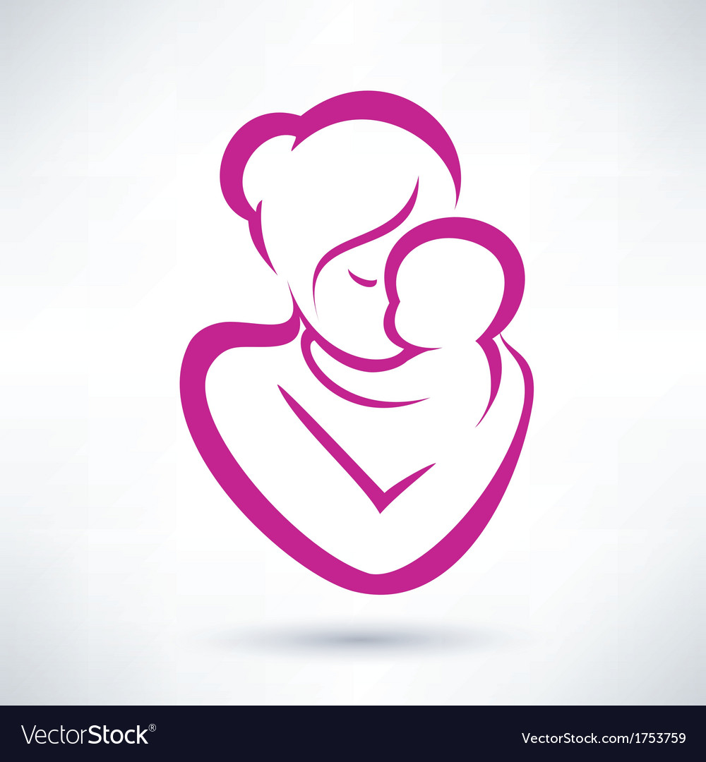 Mom and baby icon vector | Price: 1 Credit (USD $1)