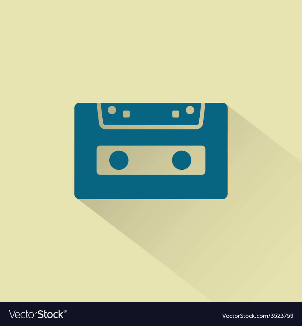 Retro audio cassette icon vector | Price: 1 Credit (USD $1)