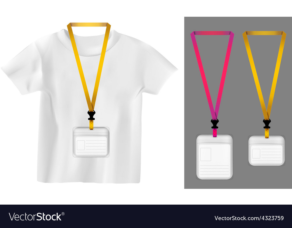 Set of lanyard retractor end badge templates vector | Price: 1 Credit (USD $1)