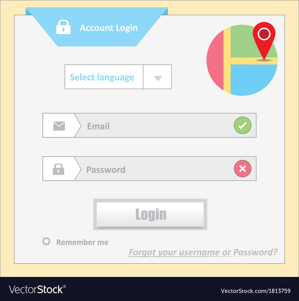 User login 13 vector | Price: 1 Credit (USD $1)