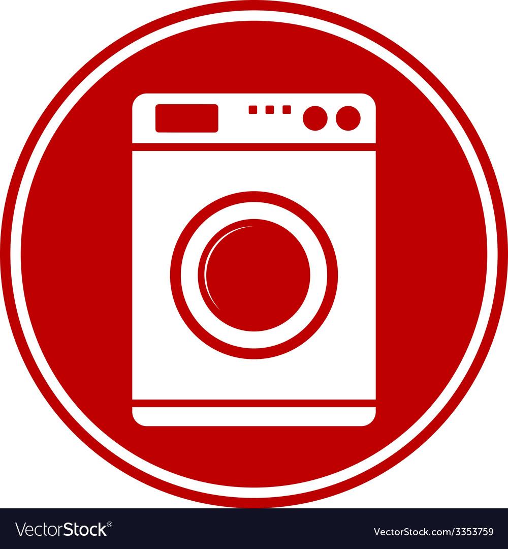 Washing machine button vector | Price: 1 Credit (USD $1)