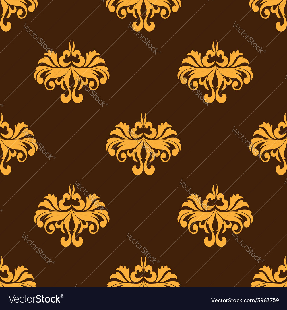 Yellow floral seamless pattern with intricate vector | Price: 1 Credit (USD $1)