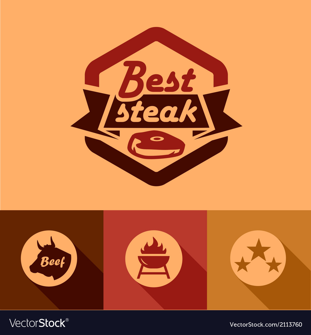 Best steak labels vector | Price: 1 Credit (USD $1)