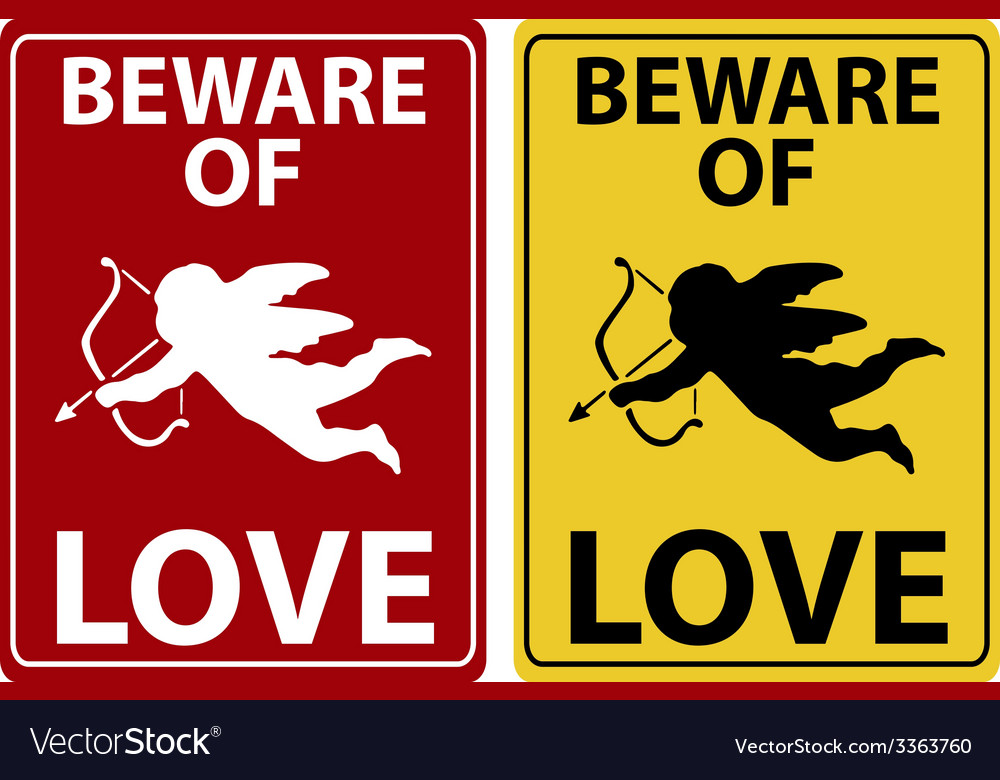 Beware of love icon vector | Price: 1 Credit (USD $1)