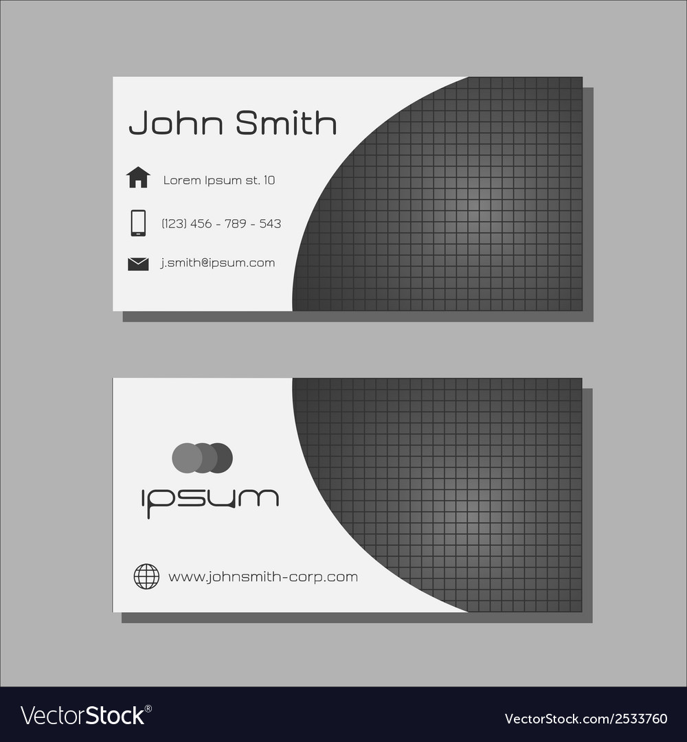 Business card template - grey square pattern vector | Price: 1 Credit (USD $1)