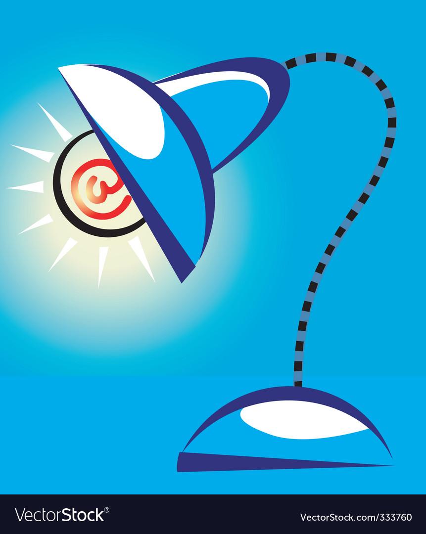 Internet lamp vector | Price: 1 Credit (USD $1)