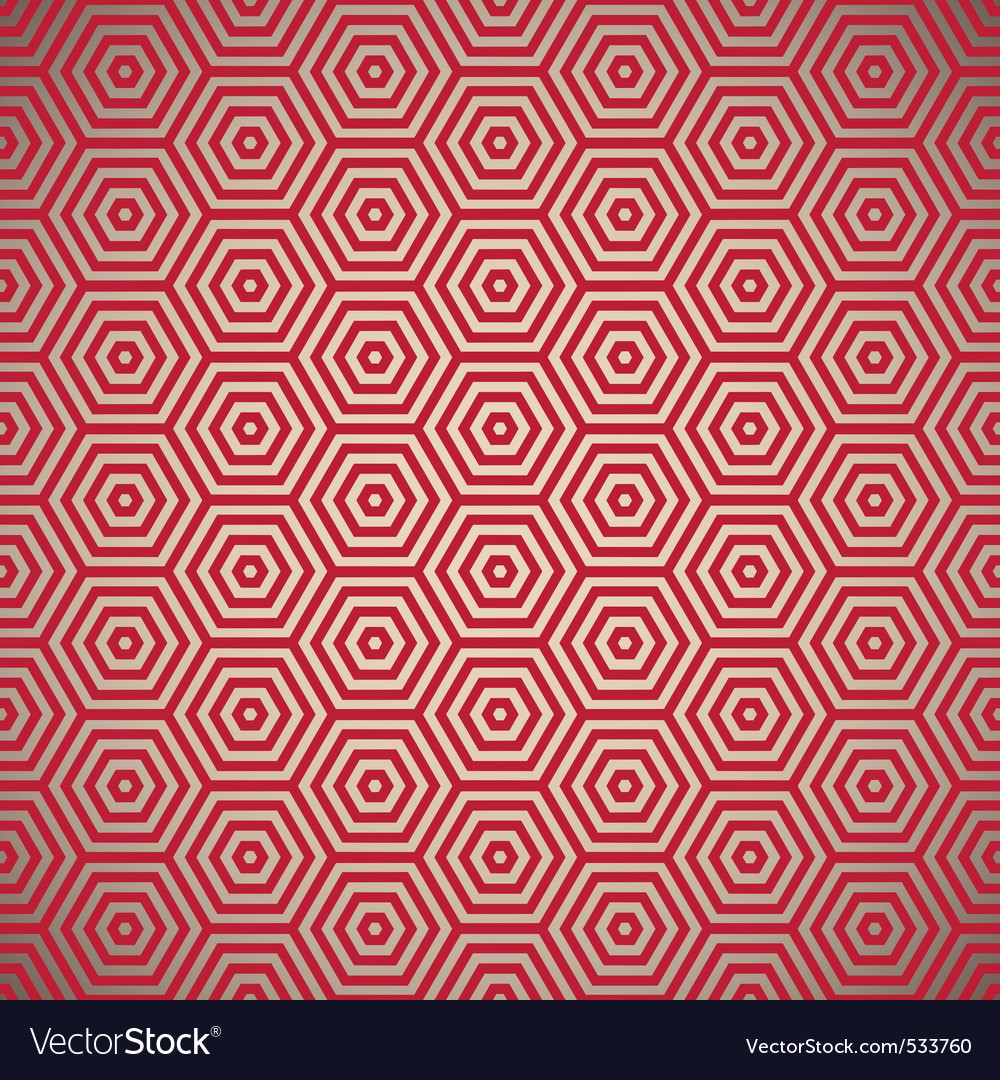 Retro red seamless background vector | Price: 1 Credit (USD $1)
