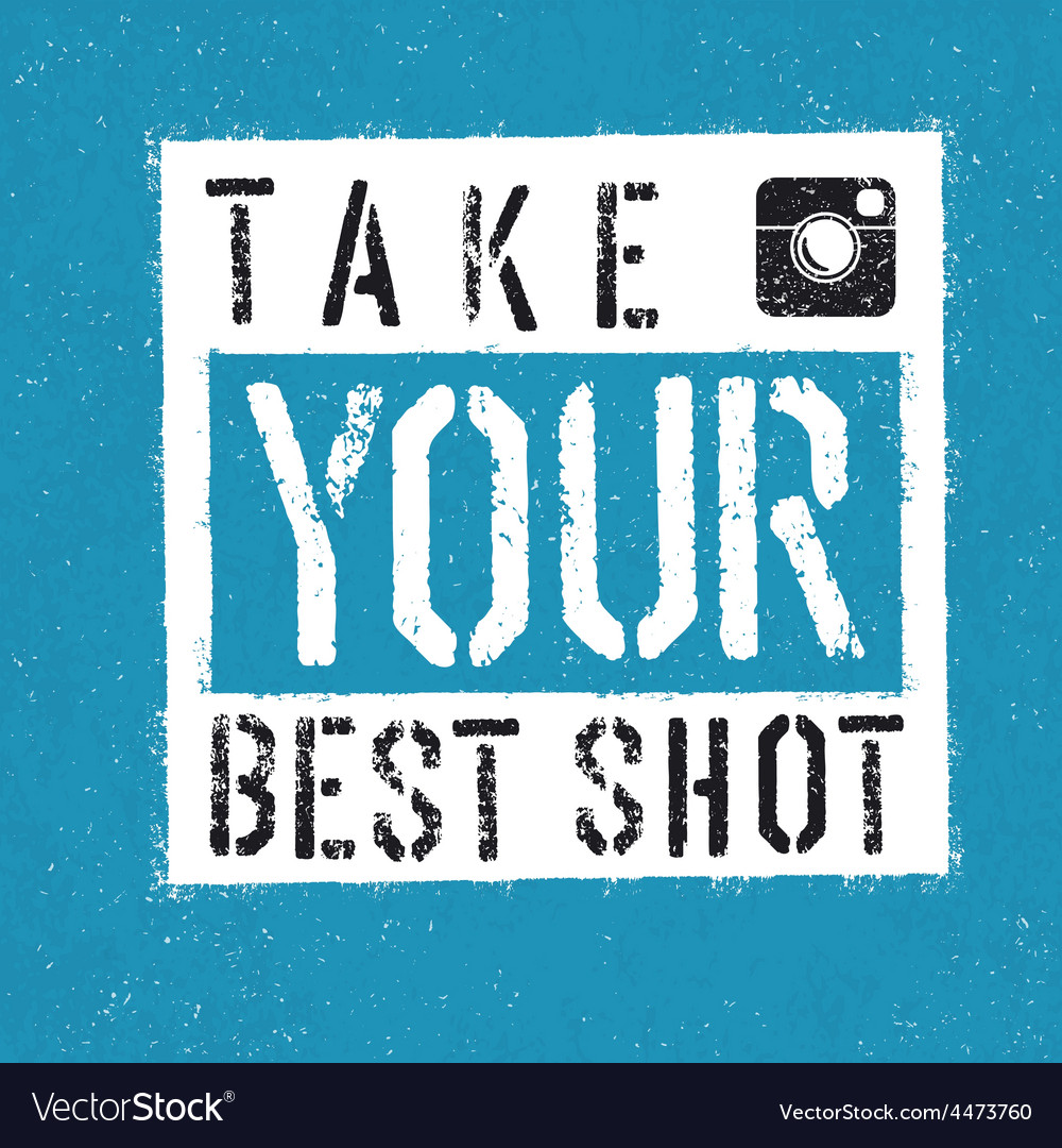 Take your best shot vector | Price: 1 Credit (USD $1)