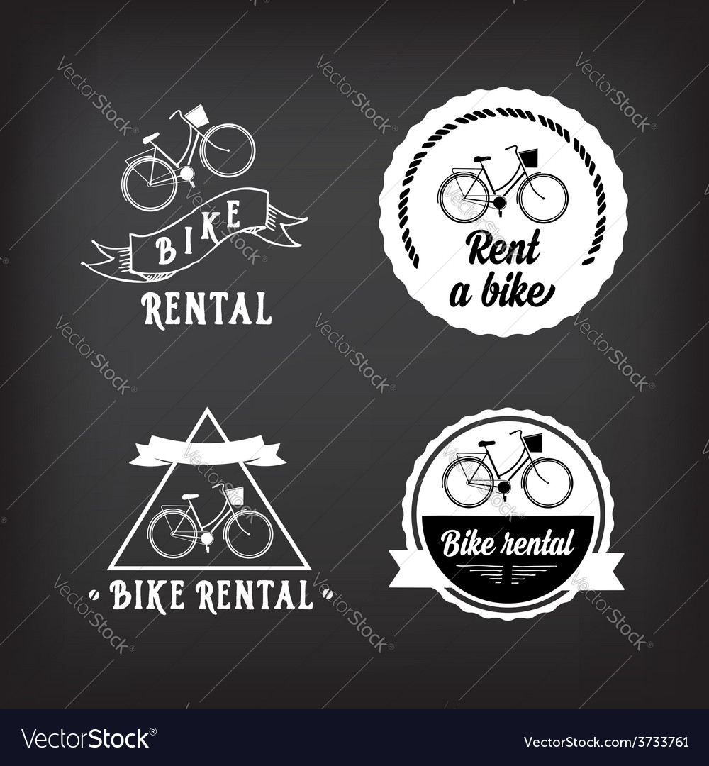 Bike rental design concept vector | Price: 1 Credit (USD $1)