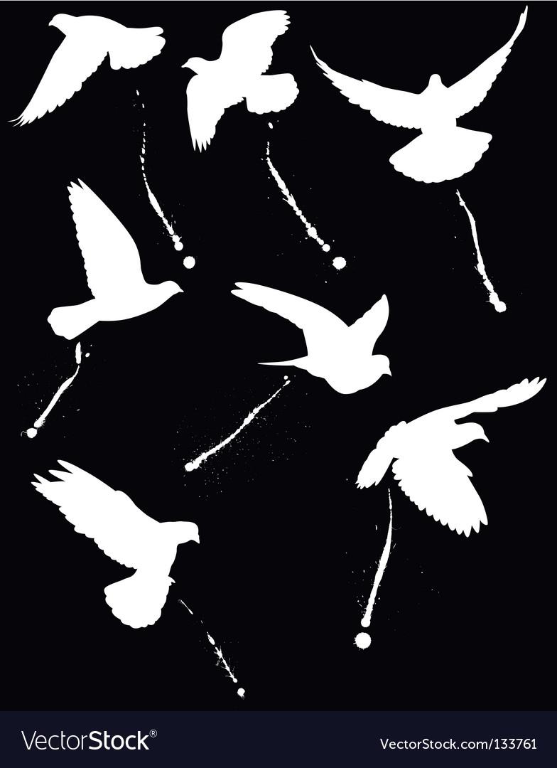 Bird droppers vector | Price: 1 Credit (USD $1)