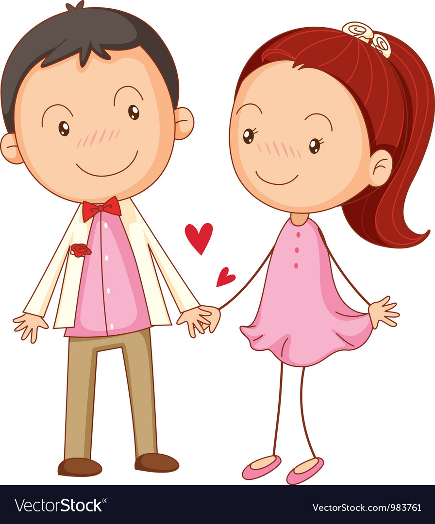 Cute couple dating vector | Price: 3 Credit (USD $3)