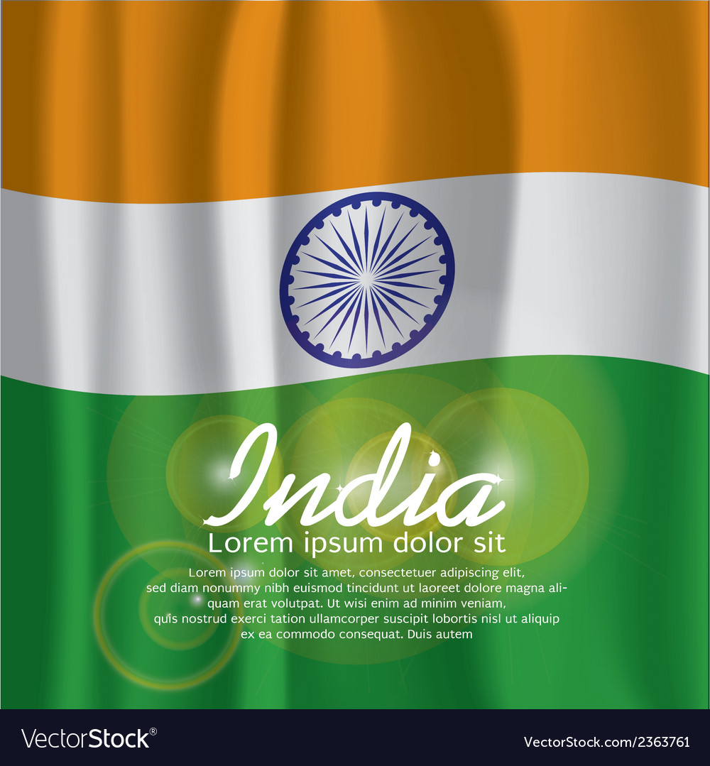 India flag curtain vector | Price: 1 Credit (USD $1)