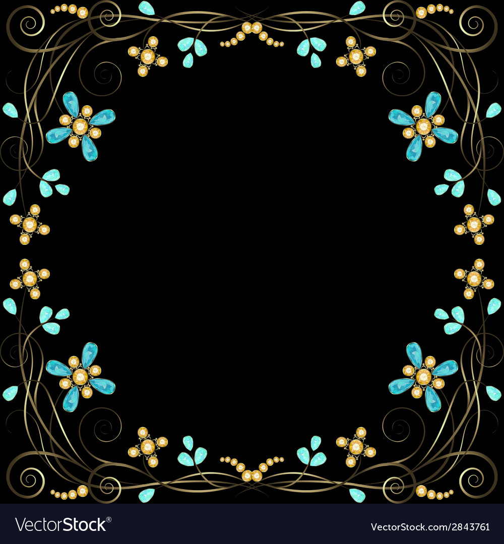 Jewelry pattern border vector | Price: 1 Credit (USD $1)