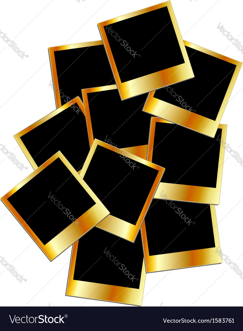 Metallic polaroids vector   Price: 1 Credit (USD $1)