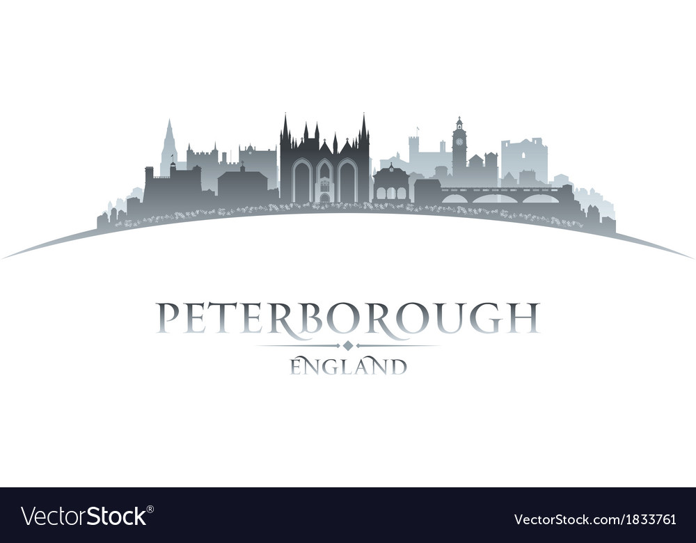 Peterborough england city skyline silhouette vector | Price: 1 Credit (USD $1)