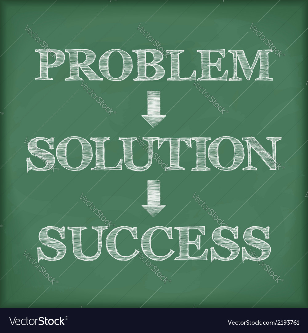 Problem solution success diagram vector | Price: 1 Credit (USD $1)