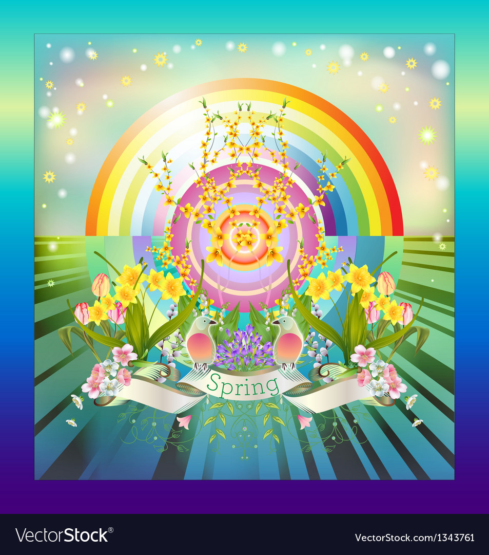 Rainbow springtime vector | Price: 1 Credit (USD $1)