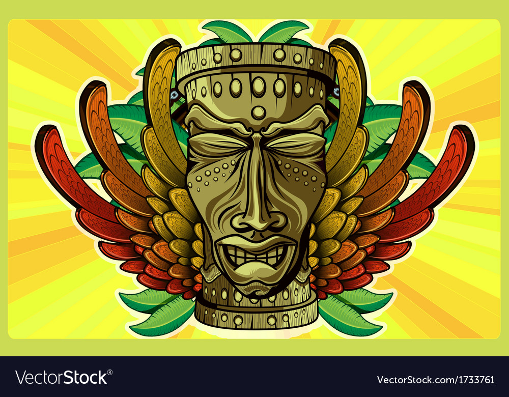 Rasta tiki plain vector | Price: 3 Credit (USD $3)