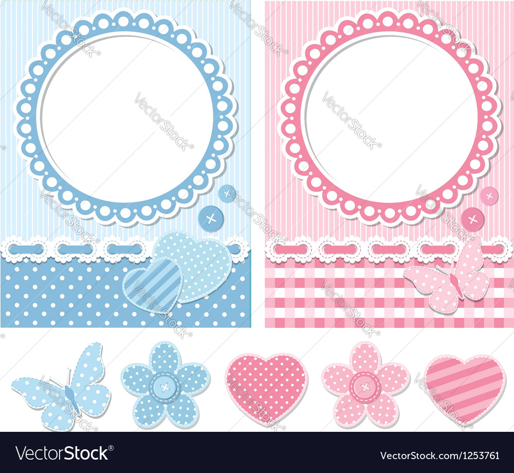 Retro scrapbook set vector | Price:  Credit (USD $)
