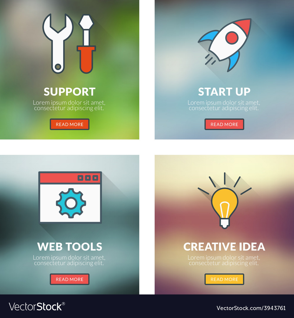 Set of flat design concepts technical support vector | Price: 1 Credit (USD $1)