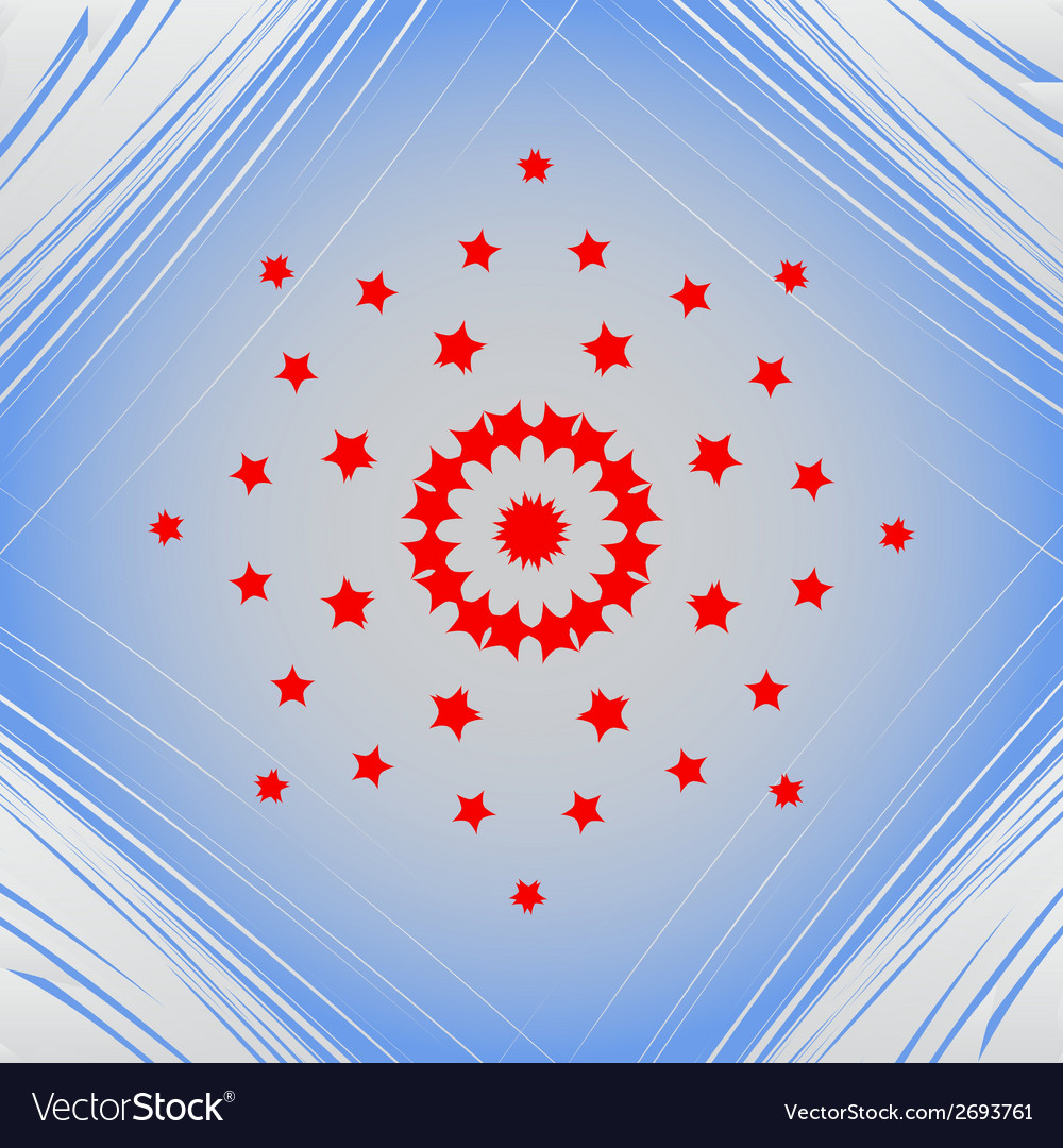 Star web icon on a flat geometric abstract vector | Price: 1 Credit (USD $1)