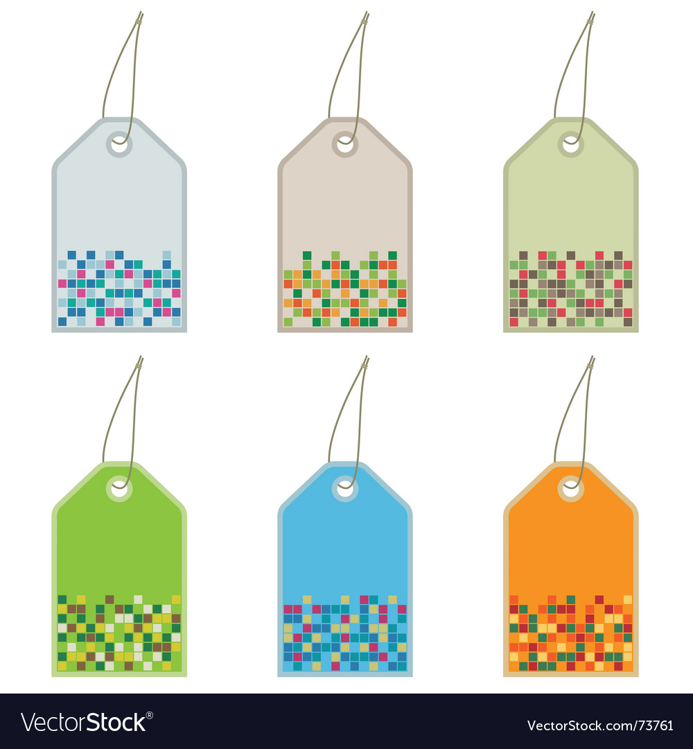 Tags with squares vector | Price: 1 Credit (USD $1)
