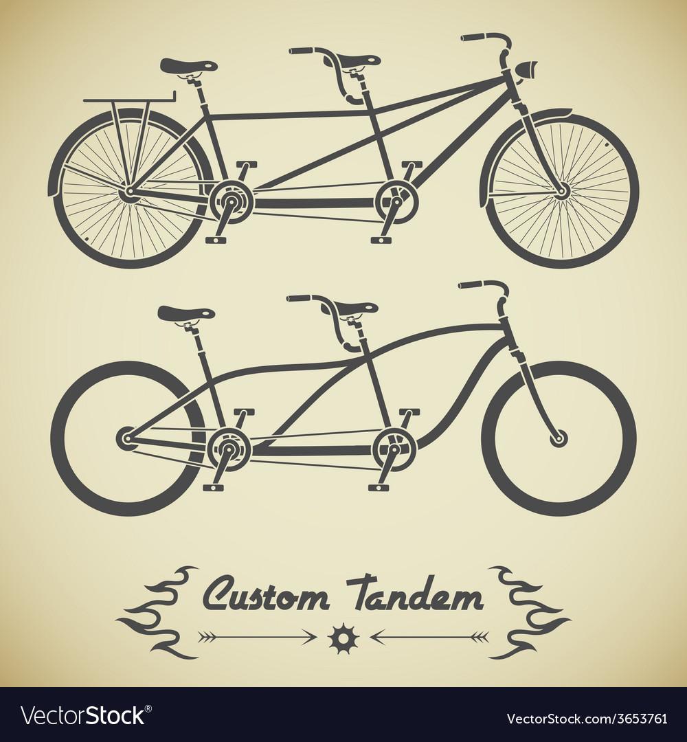 Tandem bicycle vector | Price: 1 Credit (USD $1)