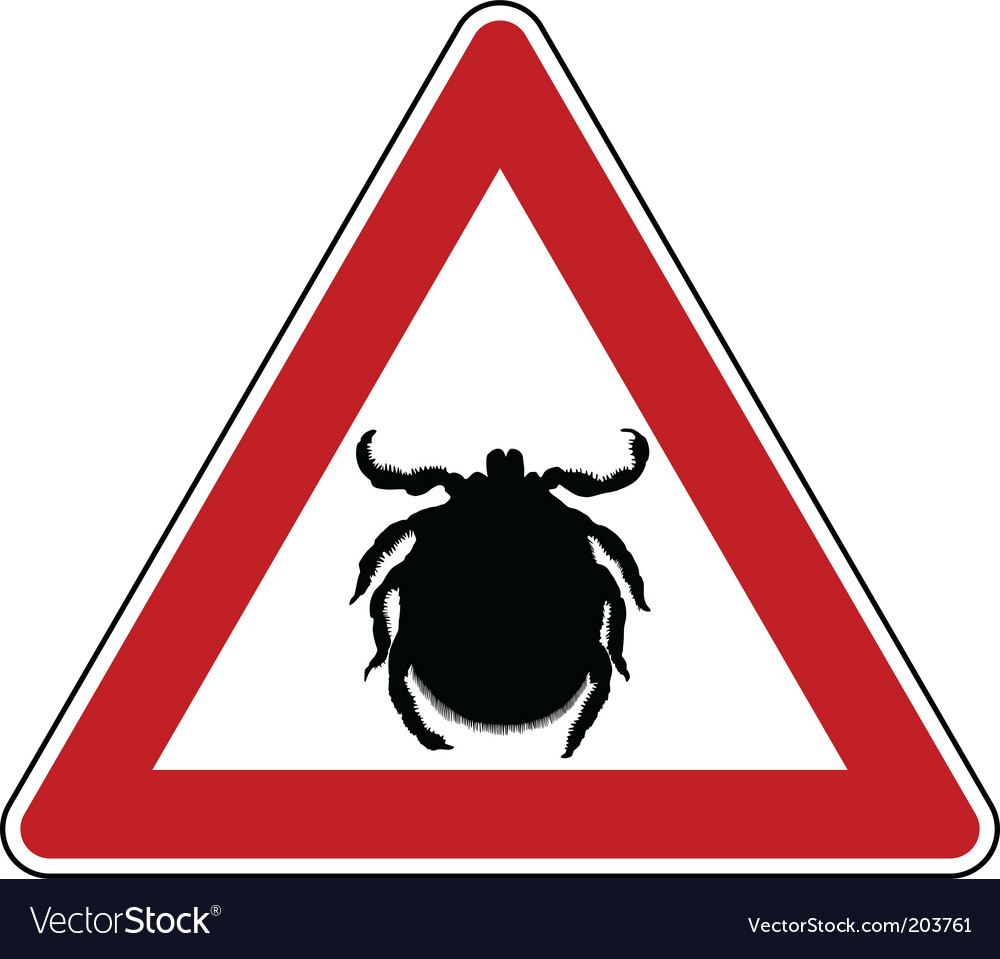 Tick warning sign vector | Price: 1 Credit (USD $1)