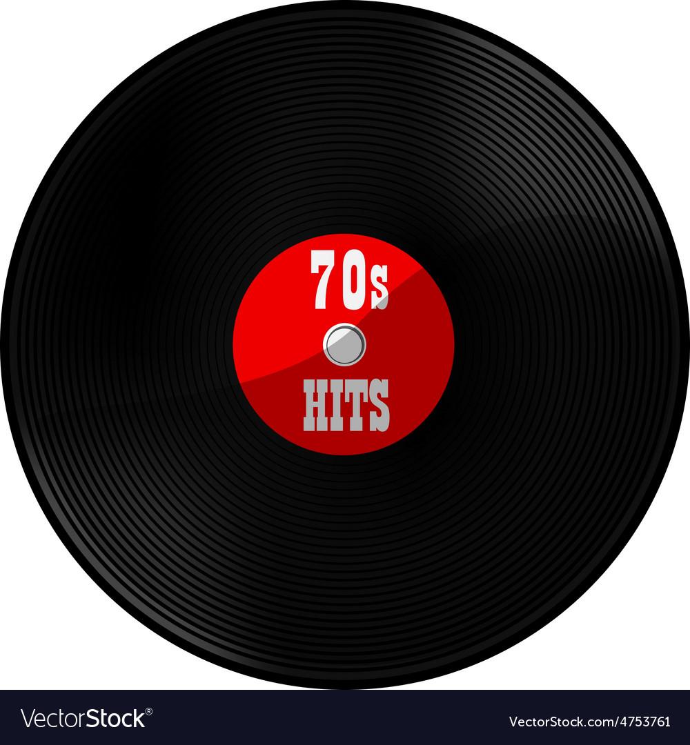 Vinyl record 70s hits vector | Price: 1 Credit (USD $1)