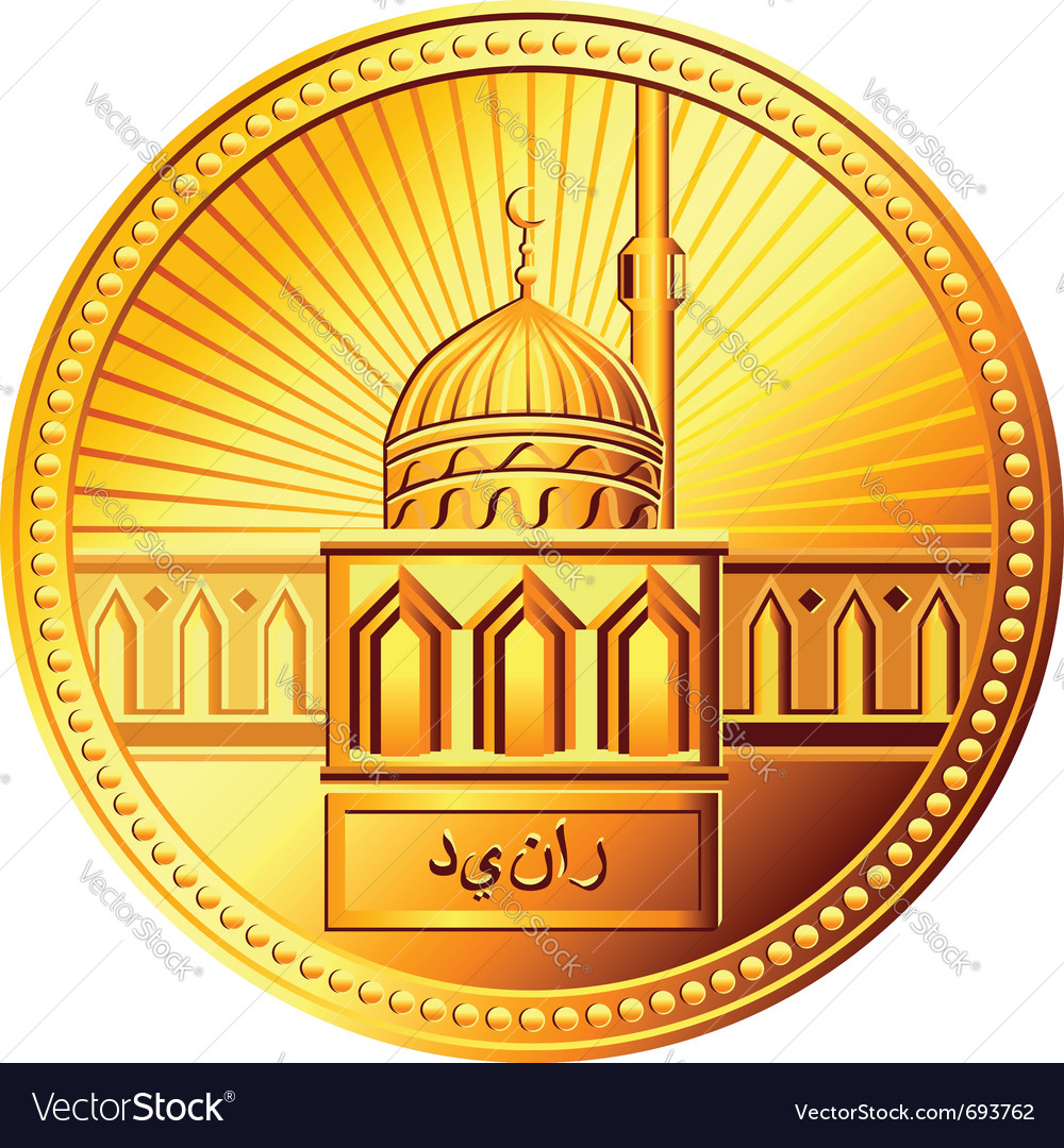 Arab gold dinar coin vector | Price: 1 Credit (USD $1)