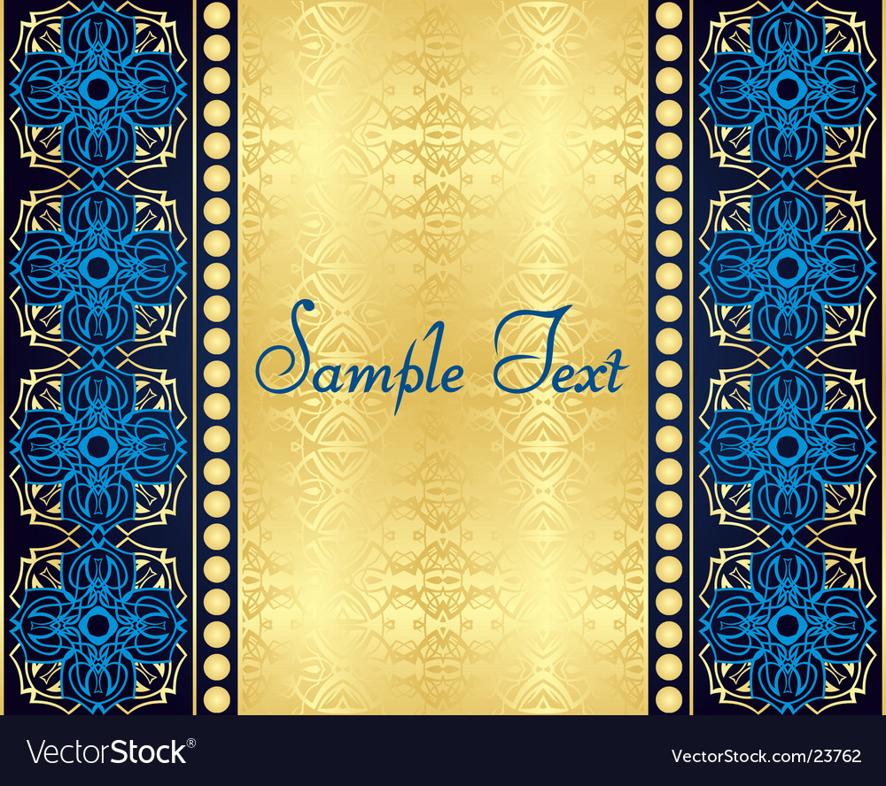 Beautiful background with gold pattern vector | Price: 1 Credit (USD $1)