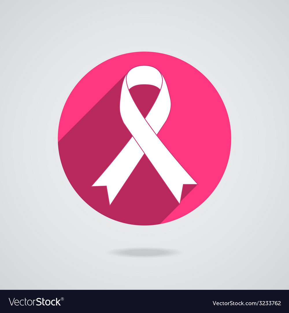 Breast cancer awareness pink ribbon on white vector | Price: 1 Credit (USD $1)
