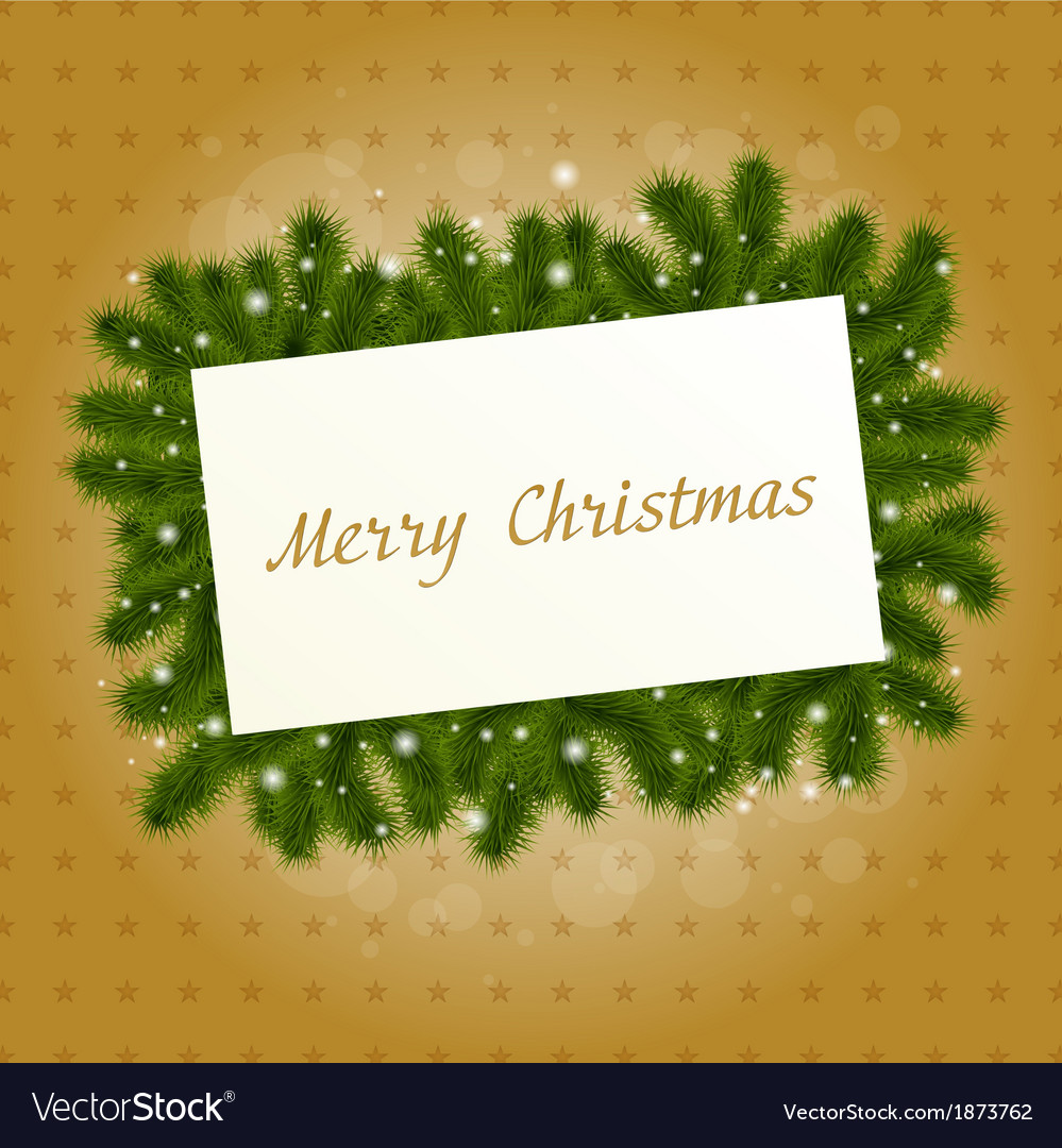 Christmas card with new year tree vector | Price: 1 Credit (USD $1)