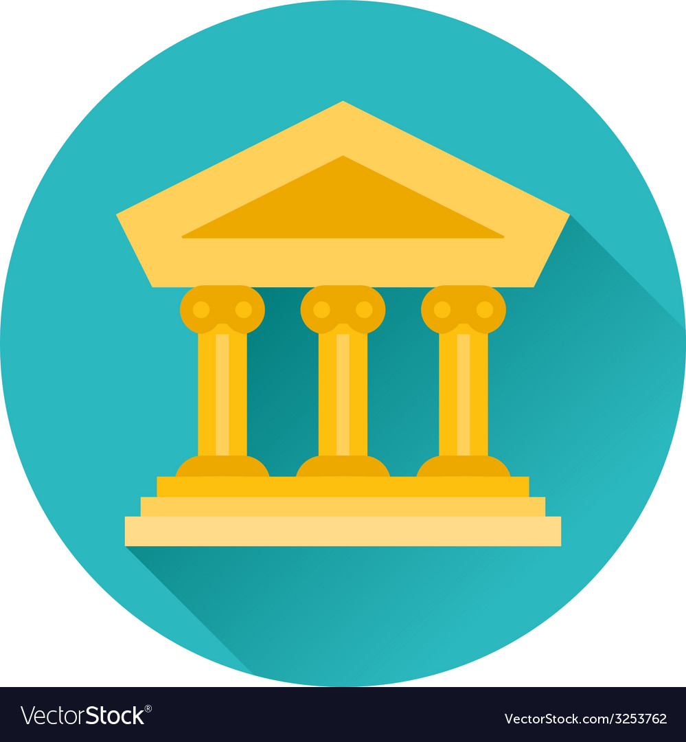 Court building museum icon vector | Price: 1 Credit (USD $1)