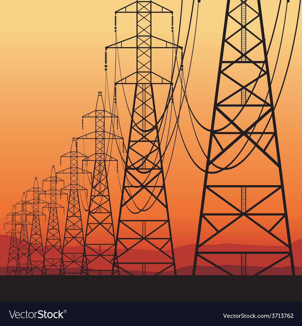 Electrical power lines vector | Price: 1 Credit (USD $1)