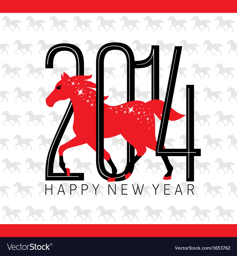 Greeting new year card vector