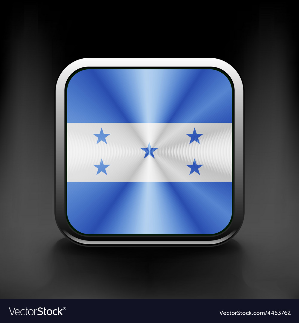 Honduras icon flag national travel icon country vector | Price: 1 Credit (USD $1)