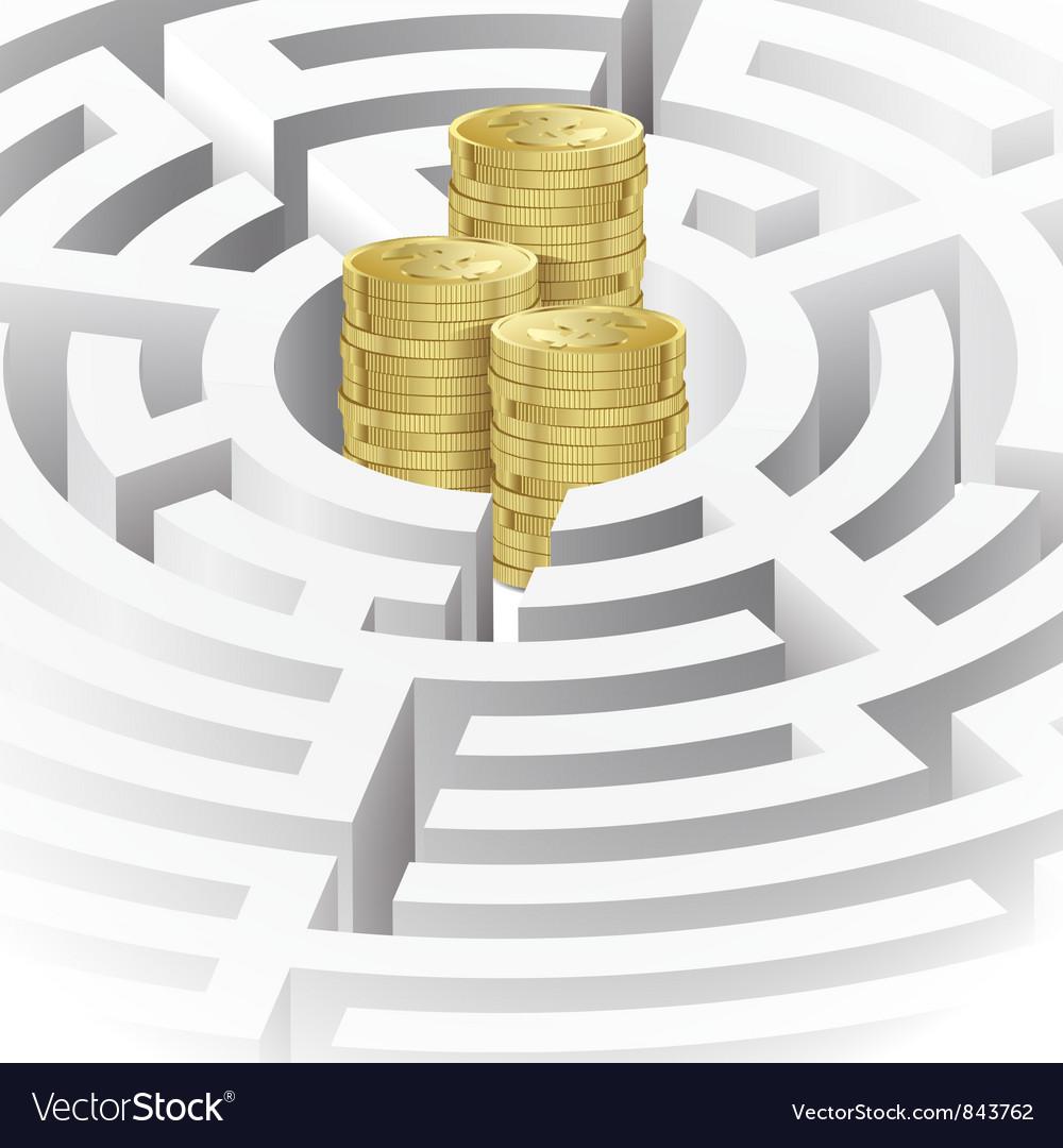 Money in the maze vector   Price: 3 Credit (USD $3)