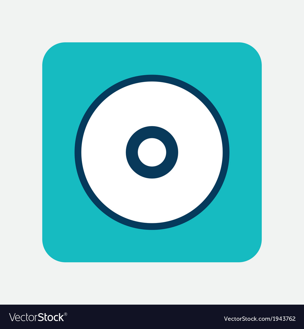 Optical disk icon vector | Price: 1 Credit (USD $1)