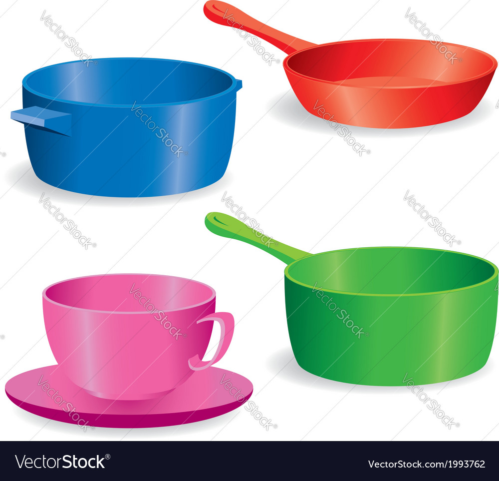 Pots and pans vector | Price: 1 Credit (USD $1)