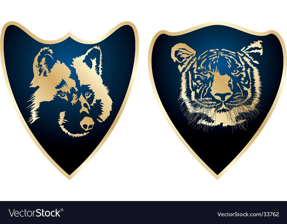 Shield elements vector | Price: 1 Credit (USD $1)