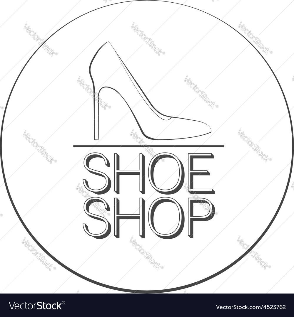 Shoe shop logo concept vector | Price: 1 Credit (USD $1)