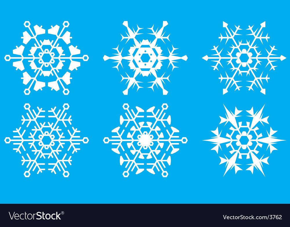 Snowflakes the crystal form vector | Price: 1 Credit (USD $1)