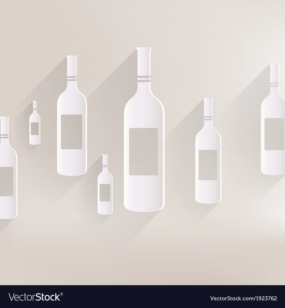 Wine bottle icon vector | Price: 1 Credit (USD $1)