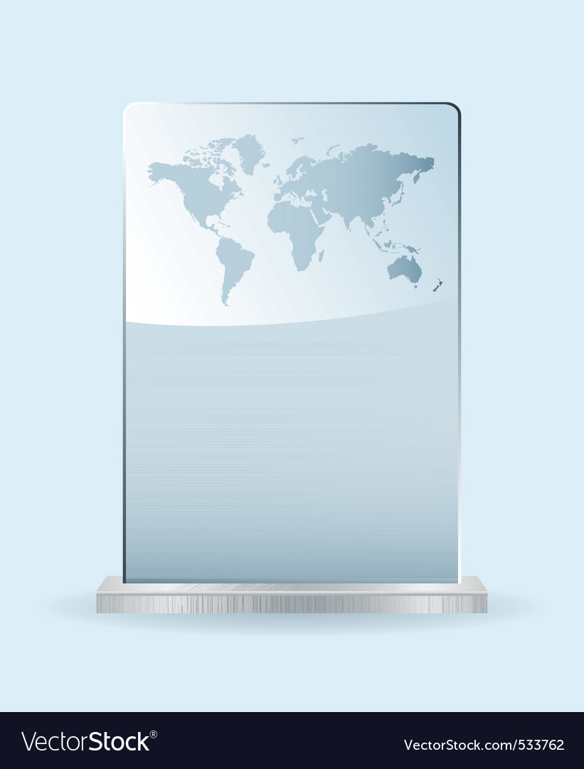 World glass award vector | Price: 1 Credit (USD $1)