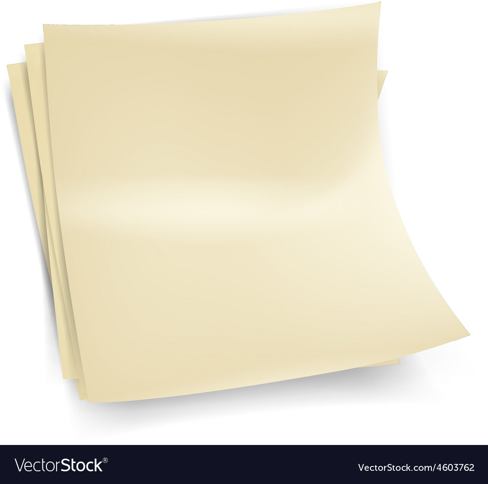 Yellow stick note vector | Price: 3 Credit (USD $3)